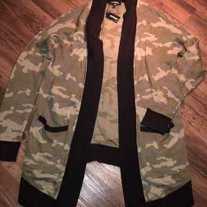 Soft army cardigan